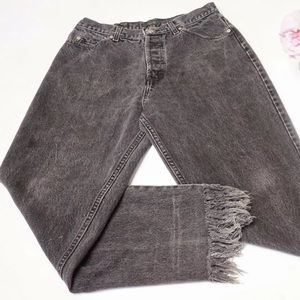 J.CREW  Womens High Rise Black Aged Jeans -34W/30L
